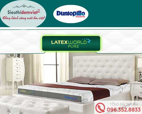 Đệm Cao Su Dunlopillo Latex World Pure